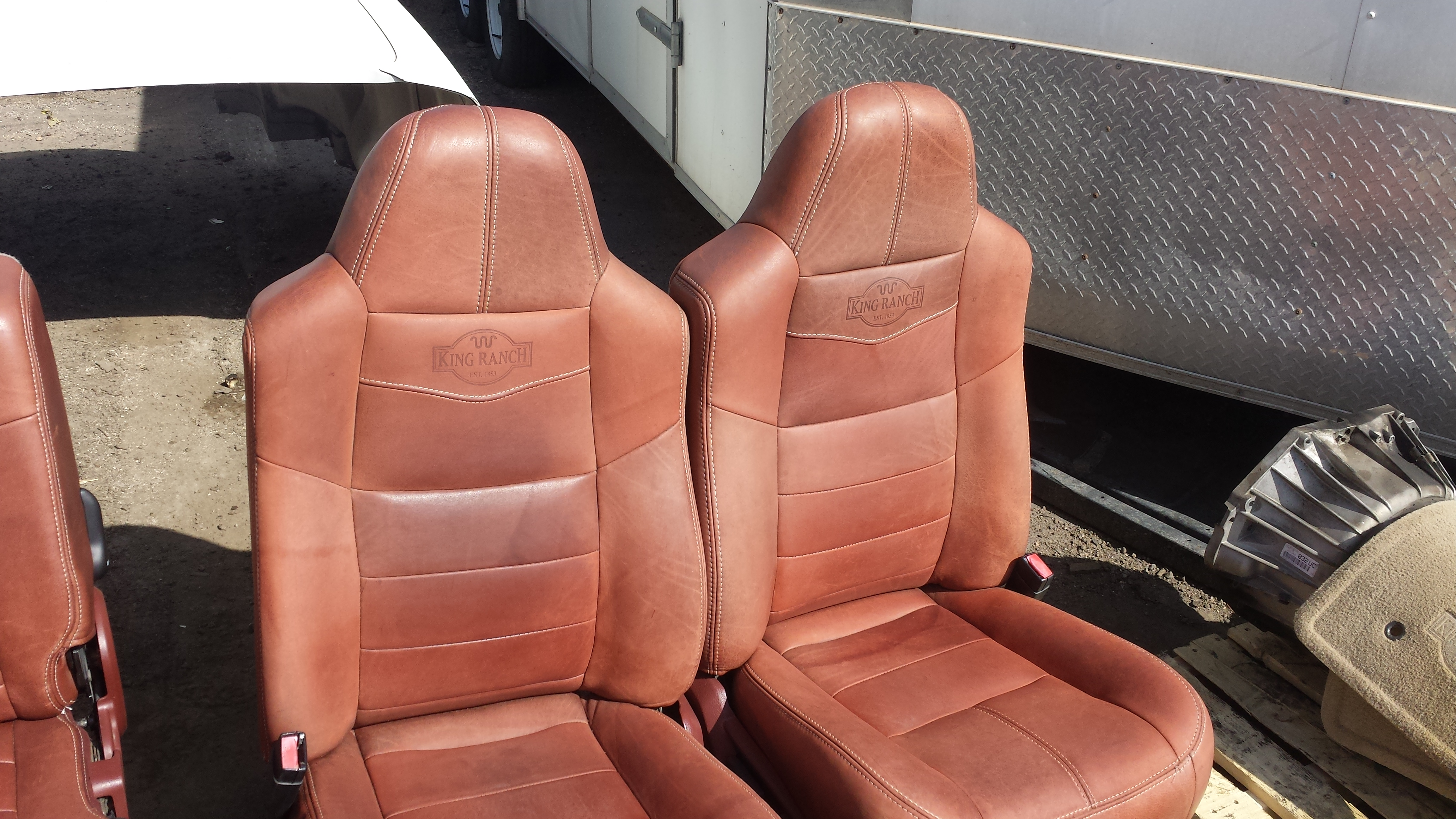 Yes i realize the leather is different but i would rather redo all my seats and use oem ford covers if possible