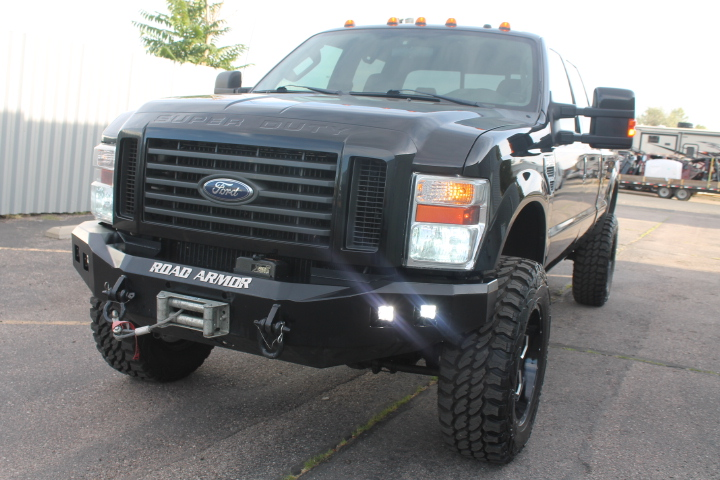 2008 Ford F350 Crewcab Lariat Pick Up Truck Diesel 4x4 Winch Lifted One Of A Kind For Sale Sold Collision Repair Denver Auto Parts Sales