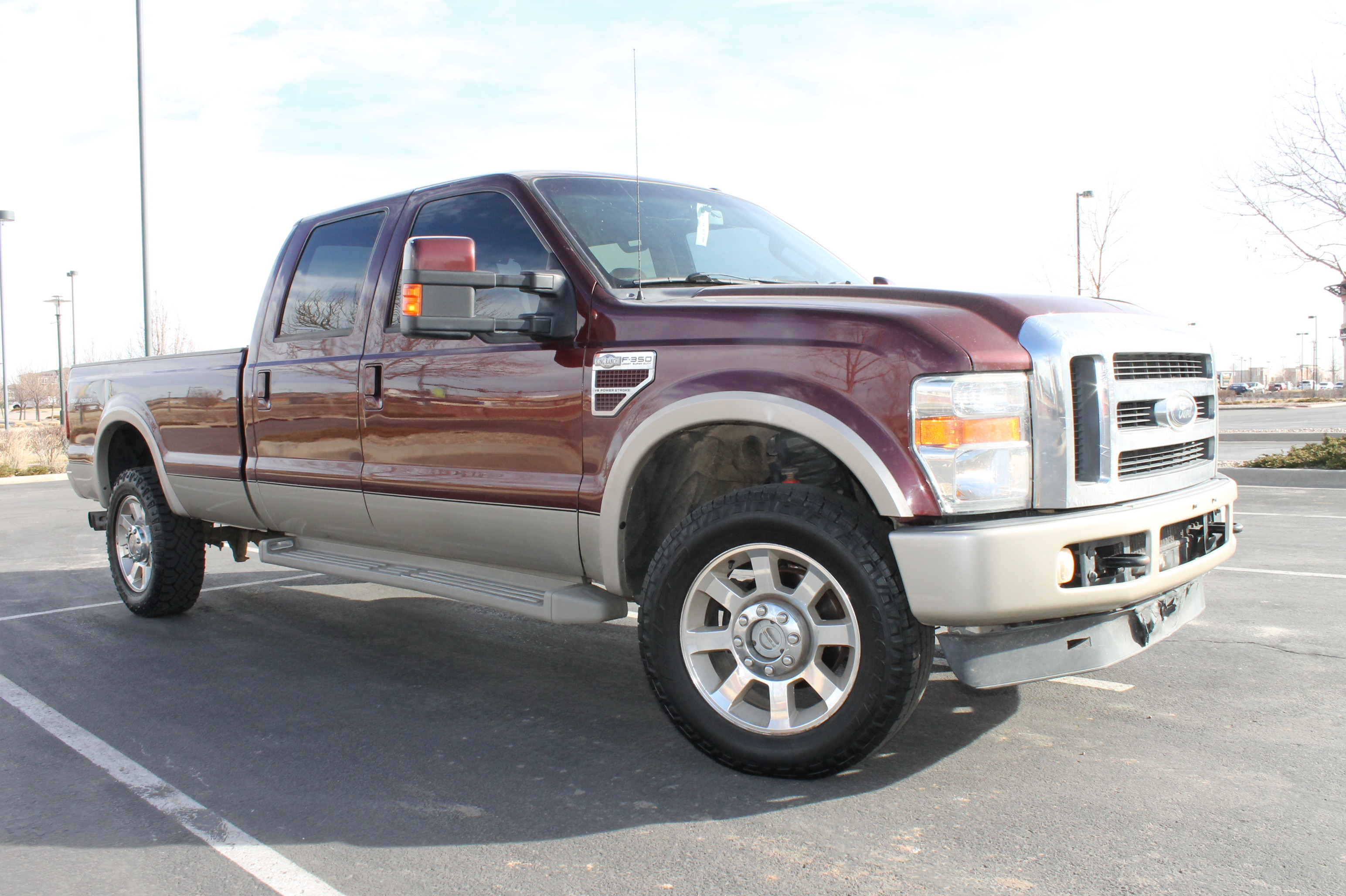 2010 ford f 350 king ranch crew cab turbo diesel long bed 6 4l diesel engine sold. Black Bedroom Furniture Sets. Home Design Ideas