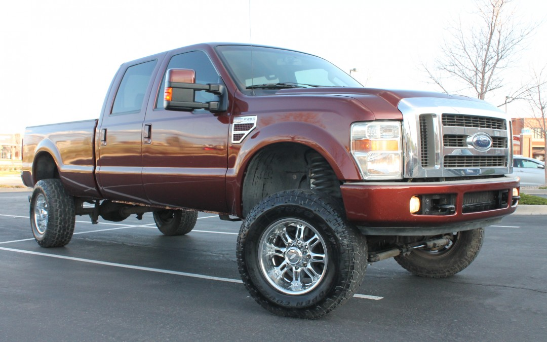 2008 ford f 350 pick up truck 6 4l lariat crew cab turbo diesel long bed lifted for sale in. Black Bedroom Furniture Sets. Home Design Ideas