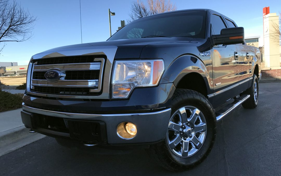 2013 ford f 150 xlt 67k super crew cab 4x4 mint pickup truck ecoboost for sale in denver sold. Black Bedroom Furniture Sets. Home Design Ideas