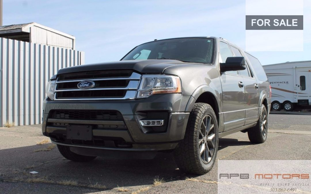2017 Ford Expedition EL Limited Black Leather Interior For Sale In Denver CO