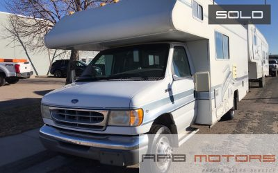 1997 Ford Econoline E-350 RV motorhome Fleetwood Searcher Class C for sale in denver – ***SOLD***