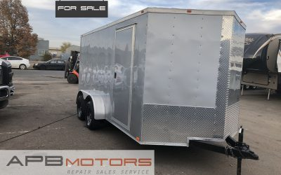 2018 Empire Cargo trailers v-nose enclosed atv / work tools trailer for sale in Denver, CO ***SOLD***
