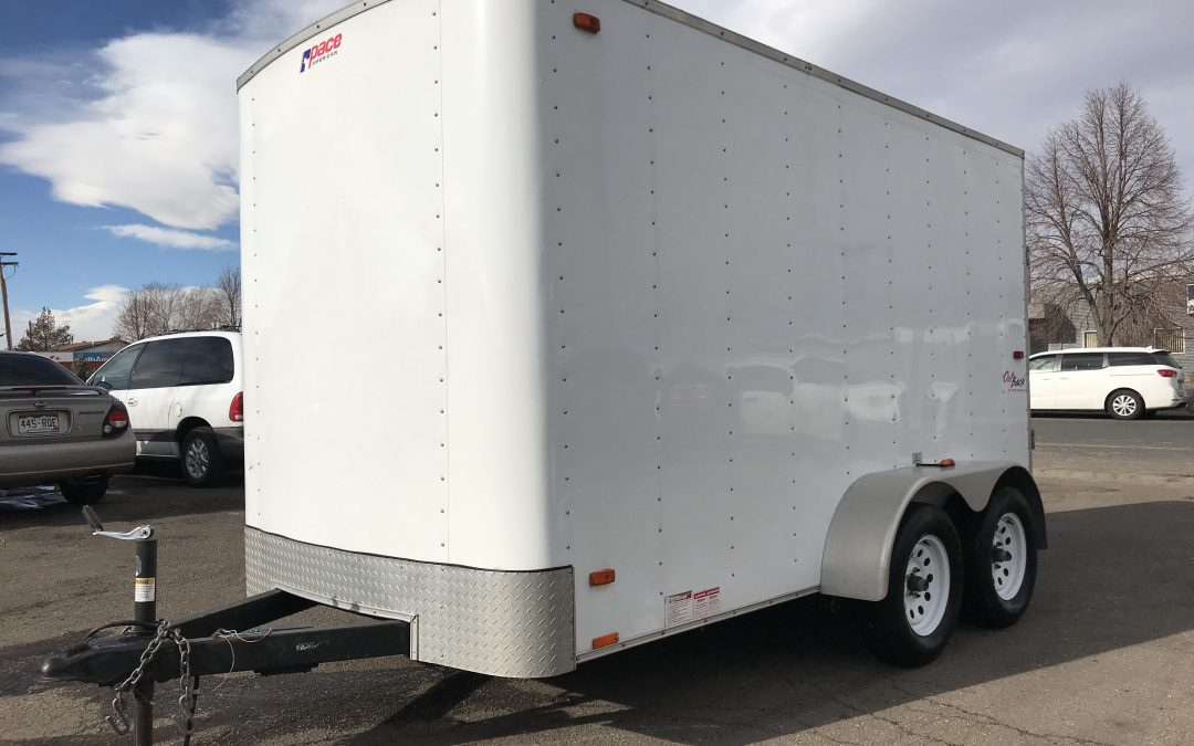 2013 Pace american Outback Cargo trailer enclosed atv / work tools – ***SOLD***